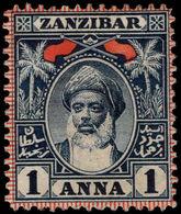 Zanzibar 1899-1901 1a Indigo Unused No Gum. - Zanzibar (...-1963)