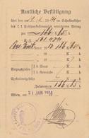 Amtliche Bestätigung Auf Pk Gel.1914, Portofrei - Announcements