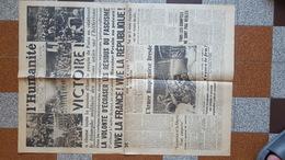 9 MAI 1945 JOURNAL DE PROPAGANDE L HUMANITE PARTI COMMUNISTE FRANCAIS VICTOIRE LIBERATION ARMEE ROUGE JACQUES DUCLOS - Documents