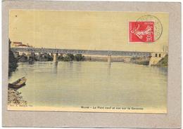 MURET - 31 - CPA COLORISEE - Le Pont Neuf Et Vue Sur La Garonne - SAL** - - Muret