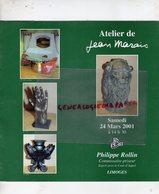 87 - LIMOGES- CATALOGUE VENTE ATELIER JEAN MARAIS-NE CHERBOURG 1913-VALLAURIS-SCULPTURE CERAMIQUES BRONZES-ROLLIN 2001 - Sculture