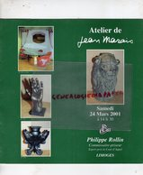 87 - LIMOGES- CATALOGUE VENTE ATELIER JEAN MARAIS-NE CHERBOURG 1913-VALLAURIS-SCULPTURE CERAMIQUES BRONZES-ROLLIN 2001 - Sculpturen