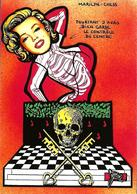 CPM échecs Chess John Kennedy Marilyn Mort Squelette Jihel Tirage Signé 30 Exemplaires Numérotés Signés - Chess