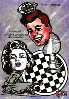 CPM échecs Chess John Kennedy Marilyn Jihel Tirage Signé 30 Exemplaires Numérotés Signés - Chess