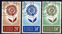 EUROPA 1964 Republik Zypern 240/1 O 14€ Blütenblatt Symbol Blumen Mit 22 Blättern Hojitas Flower Set Of CEPT - Europa-CEPT