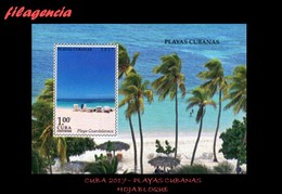 AMERICA. CUBA MINT. 2017 PLAYAS CUBANAS. HOJA BLOQUE - Kuba