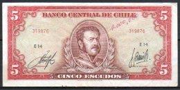 329-Chili Billet De 5 Escudos E14 - Chile