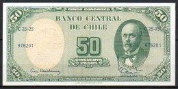 329-Chili Billet De 5c Escudos Sur 50 Pesos C25-25 - Chili