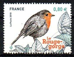 FRANCE. Timbre Oblitéré De 2018. Rouge-gorge. - Songbirds & Tree Dwellers