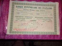 BANQUE HYPOTECAIRE DES ETATS UNIS (1914) - Shareholdings
