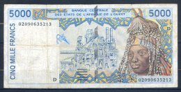 498-Mali Billet De 5000 Francs 2002 D020 - Mali