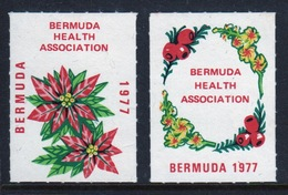 Bermuda  Christmas Charity Labels From 1977 In Mounted Mint Condition. - Cinderellas