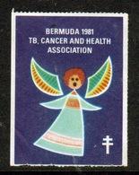 Bermuda  Single Christmas Charity Label From 1981 In Unused Condition. - Cinderellas