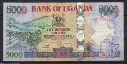 534-Ouganda Billet De 5000 Shillings 2009 JR701 - Uganda