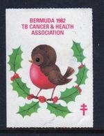 Bermuda  Single Christmas Charity Label From 1982 In Unused Condition. - Cinderellas