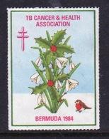 Bermuda  Single Christmas Charity Label From 1984 In Unused Condition. - Cinderellas
