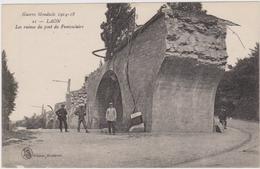 CARTE POSTALE   LAON 02  Les Ruines Du Pont Du Funiculaire - Laon