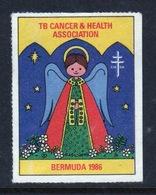 Bermuda  Single Christmas Charity Label From 1986 In Unused Condition. - Cinderellas