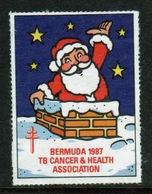 Bermuda  Single Christmas Charity Label From 1987 In Unused Condition. - Cinderellas
