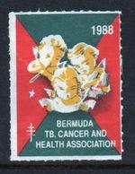 Bermuda  Single Christmas Charity Label From 1988 In Unused Condition. - Cinderellas