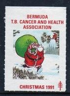Bermuda  Single Christmas Charity Label From 1991 In Unused Condition. - Cinderellas