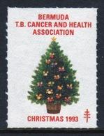 Bermuda  Single Christmas Charity Label From 1993 In Unused Condition. - Cinderellas