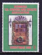 Bermuda  Single Christmas Charity Label From 1995 In Unused Condition. - Cinderellas