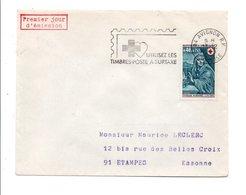1969 BELLE CONCORDANCE  POUR LE 1 ER JOUR DE LA FLAMME DE AVIGNON VAUCLUSE - Marcofilia (sobres)
