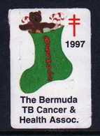 Bermuda  Single Christmas Charity Label From 1997 In Unused Condition. - Cinderellas