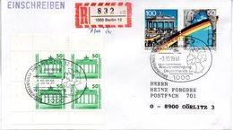 """(Gm3) BRD Sonderstempel-Beleg """"1.Jahrestag Der Wiedervereinigung ..."""" MiF BRD/Deutsche Post SSt 3.10.1991 BERLIN 12 - Storia Postale"""