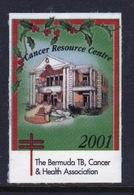 Bermuda  Single Christmas Charity Label From 2001 In Unused Condition. - Cinderellas