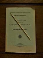 Boek  ONTSMETTEN .... Der OVERDRAAGBARE  ZIEKTEN     1912 - Faire-part