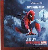 DEPLIANT DISNEYLAND Paris  25th ANNIVERSARY Super Héros Marvel - Tourism Brochures