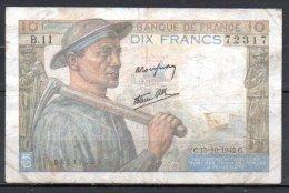 France Billet De 10 Francs 1942 C B11 - 1871-1952 Anciens Francs Circulés Au XXème