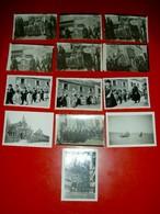 Lot 10 Petites Photographies Procession Pardon En Bretagne  An. 20/30 - Altri