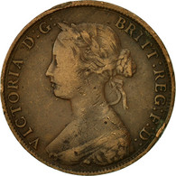 Monnaie, Grande-Bretagne, Victoria, 1/2 Penny, 1861, TTB, Bronze, KM:748.2 - 1816-1901 : Frappes XIX° S.