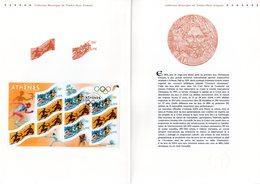 """"""" J.O. D'ATHENES 2004 """" Sur Document Philatélique Officiel De 2004 (4 Pages) : N° YT BF 73. Parfait état. FDC - Zomer 2004: Athene"""