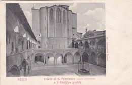 CARTOLINA - POSTCARD - PERUGIA - ASSISI - CHIESA DI S. FRANCESCO - PARTE POSTERIORE - E IL CHIOSTRO GRANDE - Perugia
