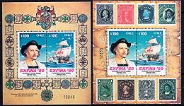 C0409 CHILE 1989, SG 1216 'Exfina' Stamp Exhibition, Columbus, MNH - Kolumbien