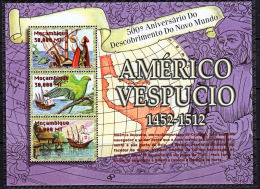 D0160 MOZAMBIQUE 2002, SG MS1595  500th Anniv. Amerigo Vespucci's 3rd Voyage,  MNH - Mozambique