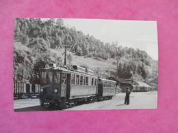 PHOTO TRAIN 39 MOREZ AUTOMOTRICE ET REMORQUE JACQUELINE  CLICHE J.BAZIN - Trains