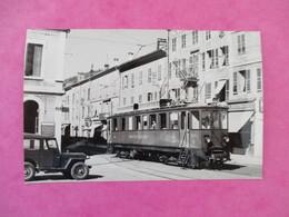 PHOTO TRAIN 39 MOREZ AUTOMOTRICE VOITURE JEEP  CLICHE J.BAZIN - Trains