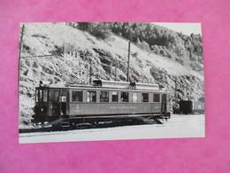 PHOTO TRAIN 39 MOREZ AUTOMOTRICE BCF 4/4 N°6  CLICHE J.BAZIN - Trains