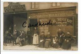 AMIENS - Carte-photo Du Commerce Victorice BARTHE - 77 Et 79 Rue De Paris - Amiens