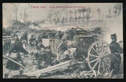 YSER 1914 - UNE BATTERIE EN ACTION - War 1914-18