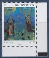 """= Odilon Redon """"Le Bouddha"""" Gommée Avec Coin De Feuille 4542 à 1.40€ Neuf - France"""