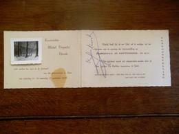 Uitnodiging   Kunstschilder  MICHEL  VERGUCHT   Herzele  Tentoon  1956         Gemeentehuis Te ASSE - Faire-part