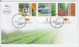ISRAEL 2011 ACHIEVEMENTS AGRICULTURE GROWING CROPS WITH SALINE WATER IRRIGATING RECLAIMED BREEDING TOMATOES FDC - FDC
