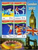 Tajikistan 2012 Summer Olympic Games In London Boxing Judo Taekwondo Hammer Throwing SS MNH - Summer 2012: London