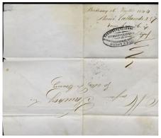 """GIRONDE - LAC - Imprimé De BORDEAUX (1844), Au Verso """" Estafette Du Commerce, Distributions D'imprimés Dans Bordeaux """" - Marcophilie (Lettres)"""